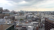 Over the rooftops of London on a cloudy day Stock Footage