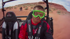 POV of a man driving a quad ATV all-terrain vehicle off-road in Arizona. Stock Footage