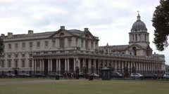 Old Royal Naval College in Greenwich Stock Footage
