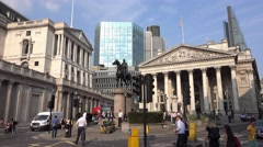 Royal Exchange Building in London Stock Footage