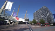 Peninsula Square at the O2 North Greenwich Stock Footage