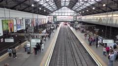 Earls Court Underground station in London Stock Footage