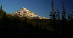 Time lapse of sunset on Mt. Hood, Oregon from the Northwest Stock Footage