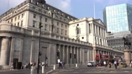 The Bank of England in London Stock Footage