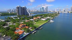 The Venetian Islands Miami Beach Stock Footage
