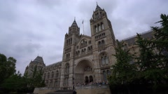 The Natural History Museum in London Stock Footage
