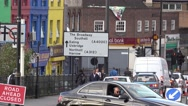 Direction signs in Southall Stock Footage