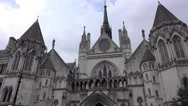 Royal Courts of Justice in London Stock Footage