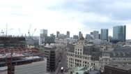 Aerial view over London - over the rooftops of London Stock Footage