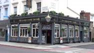 Typical English Pub or Irish pub at Earls Court London Stock Footage
