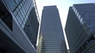 Impressive One Canada skyscraper at Canary Wharf Stock Footage