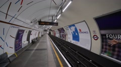 London Underground Platform Stock Footage