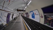 London Underground Platform Stock Footage