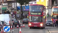 Indian people in the streets of Southall Stock Footage