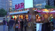 London Riviera - free theatre and beach club at More London Riverside Stock Footage