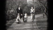 1949: family is seen going on trip with small child MIDDLETOWN Stock Footage