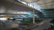 Modern Terminal 2 - The Queens Terminal at London Heathrow Airport Stock Footage