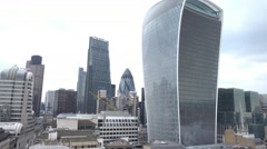 Walkie Talkie Building in the financial district of the City of London Stock Footage