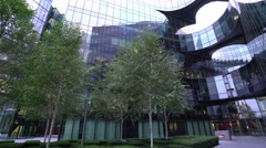 Modern office buildings at More London Riverside Stock Footage