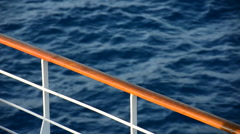 A sailing cruise ship in the Mediterranean Sea, Europe. Stock Footage
