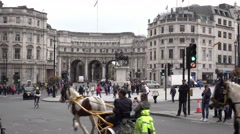 Admiralty Arch in London Westminster Stock Footage