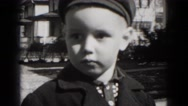 1949: small child is seen posing MIDDLETOWN Stock Footage