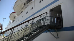 A cruise ship in Portoferraio, Italy on the island of Elba. Stock Footage