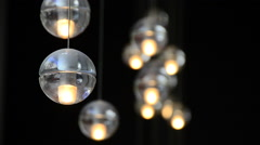 Fancy lighting fixture at a modern hotel. Stock Footage