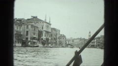 1949: water area is seen VENICE, ITALY Stock Footage