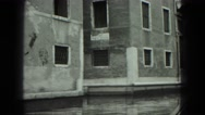 1949: the historic city of venice as seen from moving gondola VENICE, ITALY Stock Footage