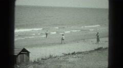 1949: beach scene is seen VENICE, ITALY Stock Footage