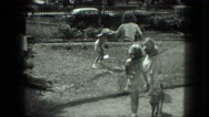 1949: girls are seen outdoor VENICE, ITALY Stock Footage