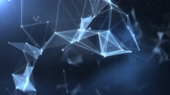 Plexus abstract network titles cinematic background 40 Stock Footage