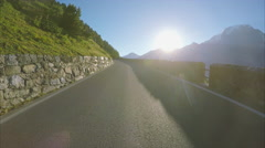 Driving on the Stelvio Pass in the Alps Stock Footage
