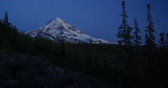 Mt. Hood, Oregon from the Northwest as night falls. Stock Footage