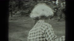 1949: picnic in forest area is seen VENICE, ITALY Stock Footage