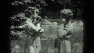 1949: women are seen in beautiful dresses VENICE, ITALY Stock Footage
