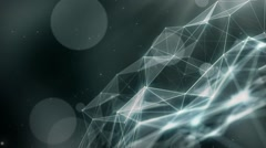 Plexus abstract network titles cinematic background 48 Stock Footage