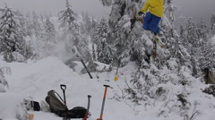 A skier doing a jumping trick. Stock Footage
