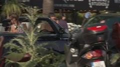 LUXURY CAR, CANNES CROISETTE, FRANCE Stock Footage