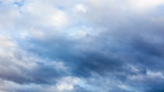 Timelapse moody sky with dramatic clouds before typhoon Stock Footage