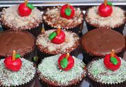 Apple Cupcake Stock Photos