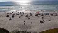 Slow panning shot of Solana beach. Stock Footage