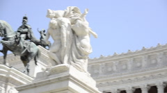 The Monumento Nazionale a Vittorio Emanuele II (National Monument to Victor Emma Stock Footage