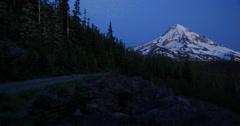Nightfall on Mt. Hood, Oregon from the Northwest. Stock Footage