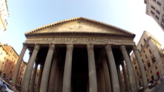 Pantheon in Rome, Italy, Europe Stock Footage