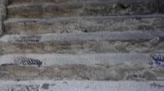 Steps in Porto Venere, Liguria, Italy Stock Footage