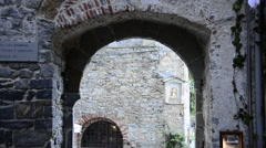 Arch in Porto Venere, Liguria, Italy Stock Footage