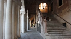 A flight of steps in the Basilica made by Andrea Palladio in Vicenza center Stock Footage