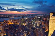 View on New York at night Stock Photos